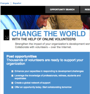 Online Volunteers Complete Tasks for Global Non Governmental Organizations