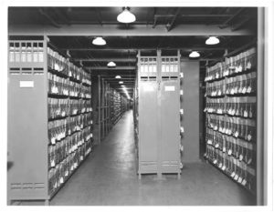 Photograph of Veteran's Bureau Records in Stack Areas, 06/12/1936